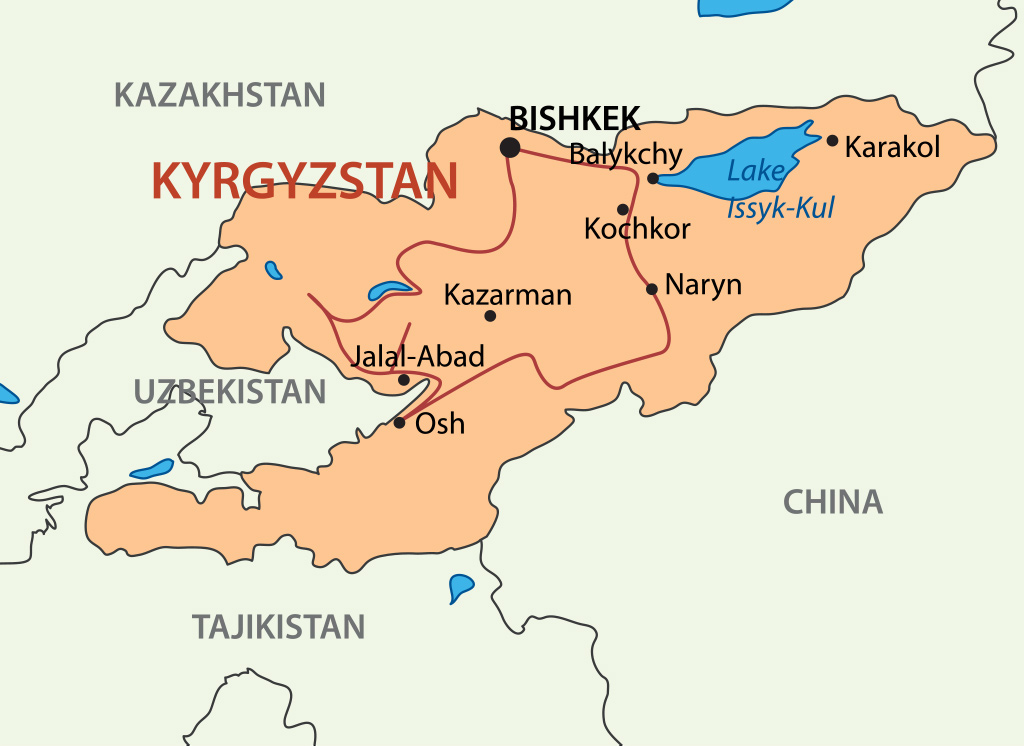 Traveling in Kyrgyzstan Route