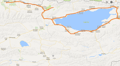 Map tour Kyrgyzstan