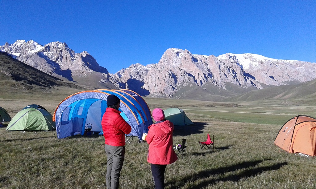 Hiking in the mountains of Kyrgyzstan