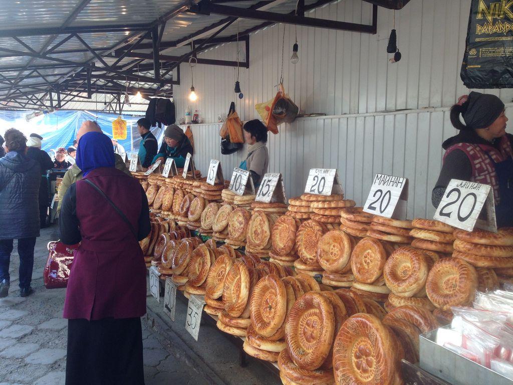 Osh bazaar in Bishkek in Kyrgyzstan